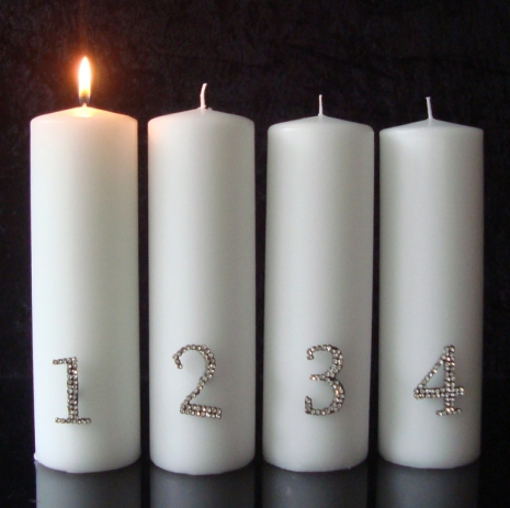 Adventssiffror 4pack Strass