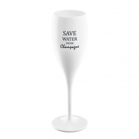 CHEERS NO.1 Champagneglas, Save water drink champagne