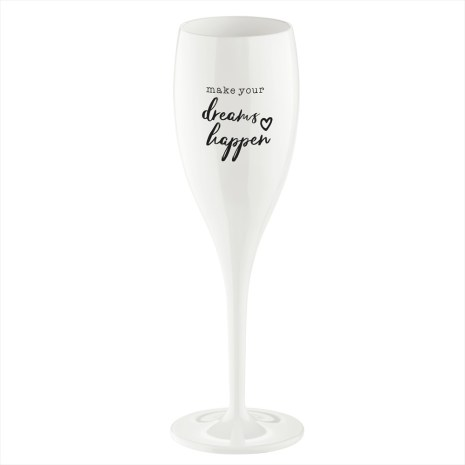 CHEERS NO.1 Champagneglas Make your dreams happen 6-pack